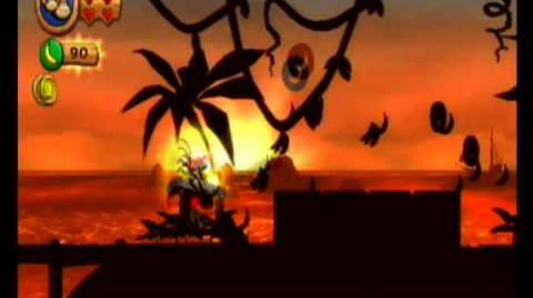 Donkey Kong Country Returns 100% Video Walkthrough 1-4 Sunset Shore