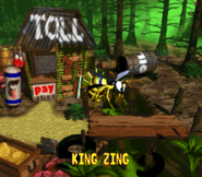King Zing Credits Screen - Donkey Kong Country 2