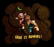 DKC3 Grab 15 Bananas