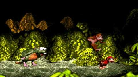 Donkey Kong Country (SNES) - Kongo Jungle - Very Gnawty's Lair