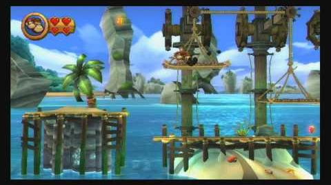 Donkey Kong Country Returns ~ World 2-1 (Poppin' Planks) Puzzle Piece K-O-N-G Letters Guide