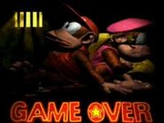 Donkey Kong Country 2 Game Over screen