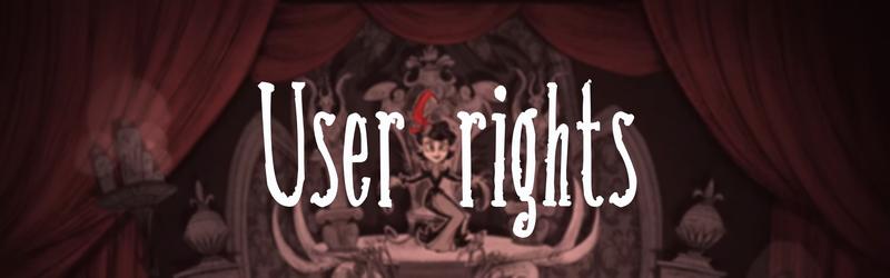 Userrightsbanner
