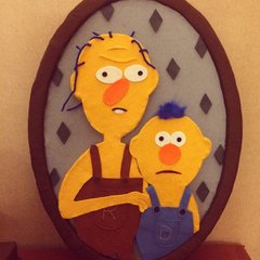 A photo depicting Yellow Guy and his father in DHMIS4