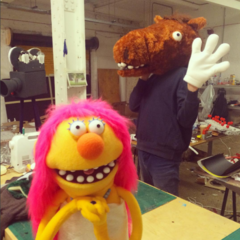 Backstage photo of Special One and Hoofcreep.
