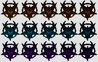 File:Sprites for demon keys from Doom 64.png
