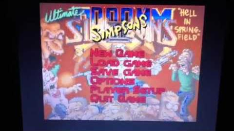 The Ultimate Simpsons DOOM running on ZDoom DOS!!