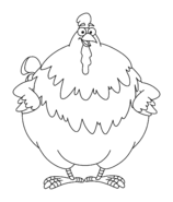 Dora the Explorer Big Red Chicken Coloring Page