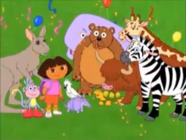 File:Dora, Boots and the animals.JPG