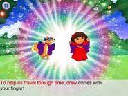 Dora and swiper glowing