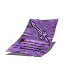 Sword journal page purple