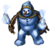 Pet azure snowman
