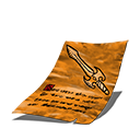 Sword journal page orange