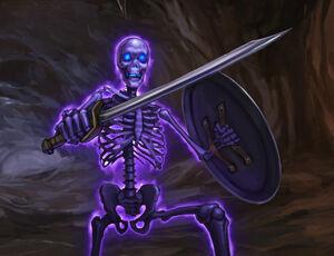 Z7a4 glowing skeleton ambush