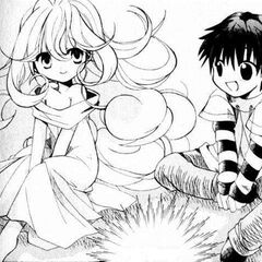 Young Aura with a young Shugo in the Legend of the Twilight manga.