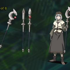 Design for Tsukasa's staff.