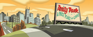 S01e16 AP welcome sign