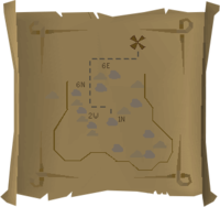 Map clue South-eastern Varrock Mine