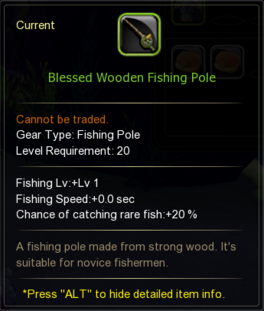 Blessed Wooden Fishing Pole