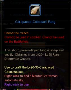 Carapaced Colossus Fang