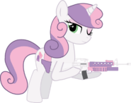 Sweetie Belle (grown up) with her Guns
