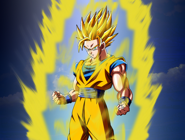 File:Goku super saiyan 2 by tomnamikaze-d5cacp3.png