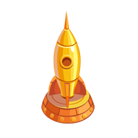 Gold Rocketship
