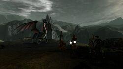 DA2 Bone Pit - quest act 1 - encountering mature dragon