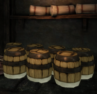 Barrels in general store
