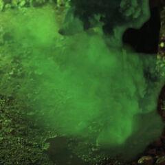 Green paralysing gas