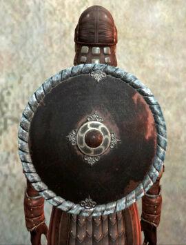Small metal round shield