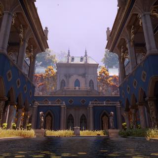 Chateau courtyard