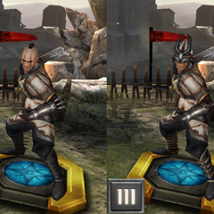 Tier evolution of a Tevinter Arcane Warrior from <i>Heroes of Dragon Age</i>