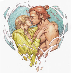 Test panel depicting Varric and Bianca