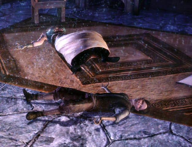 Archivo:Oriana and Oren Cousland lying dead.png