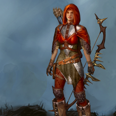 Promotional Artwork of Red Jenny Sera for Heroes of Dragon Age