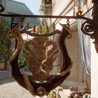 Le Masque du Lion cafe sign