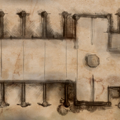 Map of the sanctuary/armory