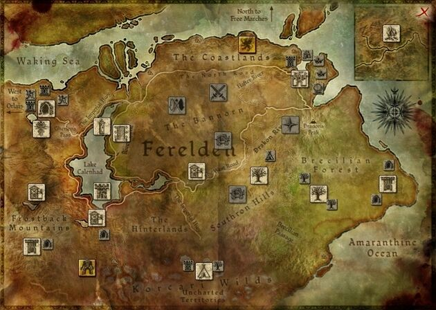 Image result for dragon age origins map