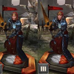 Tier progression of Knight-Commander Meredith in <i><a href=