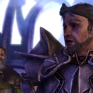 First Enchanter Irving looks to Knight-Commander Greagoir