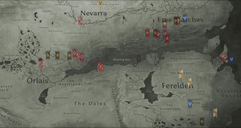 Inquisition timeline map