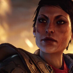 Cassandra in the <i>Fires Above</i> trailer
