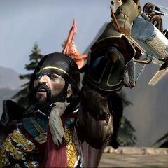 Duke Prosper during battle