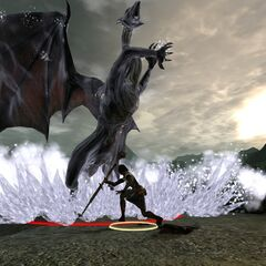 Bethany freezing a mature dragon