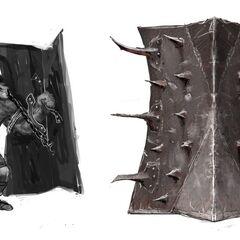Genlock alpha shield concept art for <i>Legacy</i>