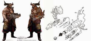 Iron Bull cannon hand