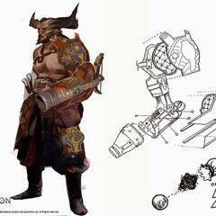 Iron Bull with his cannon prosthetic arm