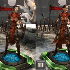 Tier progression of Neria in <i>Heroes of Dragon Age</i>