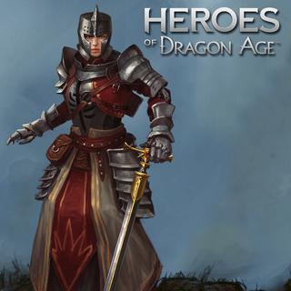 Artwork of Belinda Darrow in <i>Heroes of Dragon Age</i>